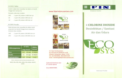 CHLORINE DIOXIDE - BROSUR-1 FIN